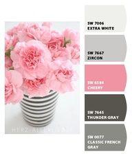 wedding color idea  pink and grey