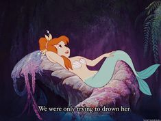 gifs peter pan disney gif mermaid lagoon we were only trying to drown her disneykid mermaid sass