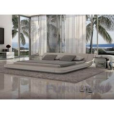 tosh furniture modern white platform bed with led lighting tosinncusto