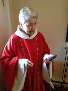 Mother Adelemarie. getting ready for St. Margaret's Day celebration.