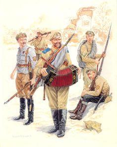 RUSSIAN CIVIL WAR - White troops