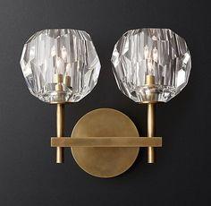 Boule de Cristal Double Sconce