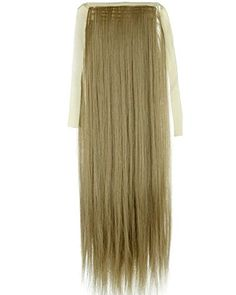 Sexy_Forever 22 Inch55cm Straight Ash Blonde Binding Tie up Ponytail Clip in Hair Extensions One Piece Wrap Around Pony Tail Cute Elegant Style Handy Use -- Check out the image by visiting the affiliate link Amazon.com on image.