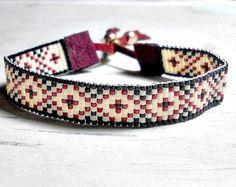 Brown Diamond Bead Loom Bracelet Loom door BeadWorkBySmileyKit
