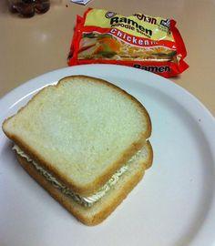 Roman Noodles Sandwich  -- hilarious jokes funny pictures walmart fails meme humor