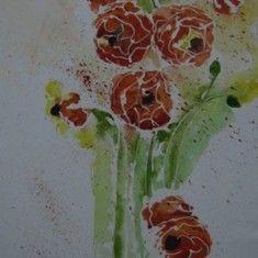Entzuckend Bilder Von Rosa   Aquarell Aurikel Format: 46 X 25 Cm Blumenaquarell,  Aquarell, Blumen, Kunst, Art,bild, Wanddekoration