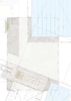 +1 FLOOR  Swimming/sport complex with a connection bridge between the two parts of the building. Location: Brussels, Ghent. University: KULeuven, Ghent, Architecture. 2nd Master student. #architecture #layout #photoshop #swimmingpool