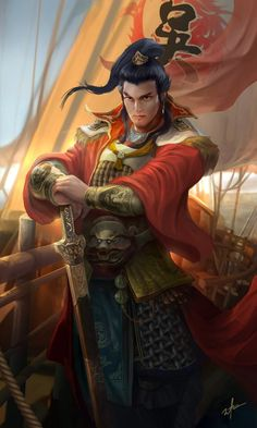 Dynasty warrior - SunQuan by derrickSong on deviantART