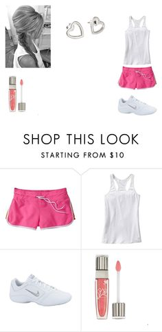 """""""Athletic Day"""" by cheska14 ❤ liked on Polyvore featuring Old Navy, NIKE, Lancôme, Fat Face, athletic, pink, cute, outfit, gym and shorts"""