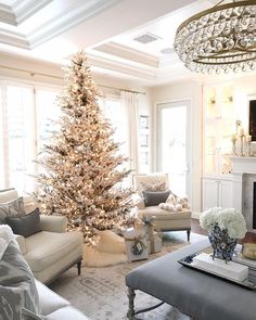 """12.8k Likes, 319 Comments - Randi Garrett Design (@randigarrettdesign) on Instagram: """"The tree is up but I'm not decorating until Monday. This year I'm trying to slow down and savor the…"""""""