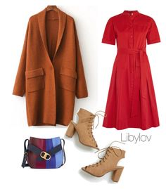 """""""The Red dress"""" by libylov on Polyvore featuring Vanessa Seward and Tory Burch"""