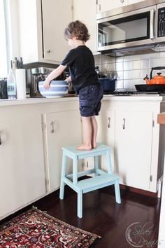 Fantastic Kitchen Stool - how to make a vintage style stool - Ikea ...