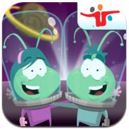Alien Assignment by Fred Rogers Center at Saint Vincent College. This app encourages critical thinking, problem-solving, and family interaction. The alien family has a problem, and children must take a picture of something around them that could solve the problem. Then, children hand the iPad to their parents, who determine if that was a good solution to the problem. Free on iTunes. 8/9/16