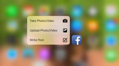 Facebook adds 3D Touch Quick Actions for posting photos + updates on iPhone 6s & 6s Plus | 9to5Mac