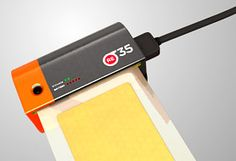 Re-35 digital cartridge for analogue cameras.  Concept by Rogge & Pott