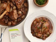 Classic Coq au Vin typically takes two days to make, but this 30 minute version is a tasty kitchen shortcut.