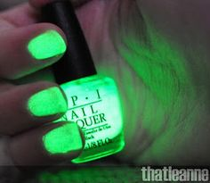 Glow in the dark nail polish!  Want!