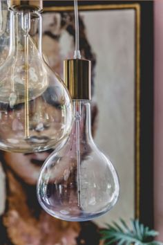 """These hanging lamps are from our feature """"True Colours"""""""