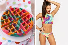 We'll Give You A Tie Dye Clothing Item To Rock, Based On Your Colorful Food Choices