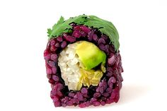 Beyond Sushi in NYC | Vegetarian sushi look at the balance of different textures, colors & flavors!