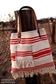 Saddle blanket bags handmade by Hopscotch Dandelions https://www.facebook.com/HopscotchDandelions