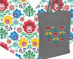 24a9caebc8c77 Torba ekologiczna na zakupy SERCE FOLK szara. Backpacks. AllBag · Kolorowe  torby z nadrukiem