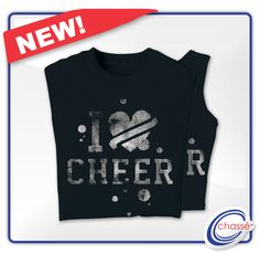 #Cheer shirt with white glitter - perfect for cheerleading camp and practice