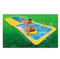 Water Slides Slip N Slide Backyard Fun Race Inflatable Boogies Summer Kids Pool