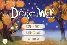 FREE app 7/20/14 (reg 1.99): Dragon and Wolf - An Interactive Children`s Book