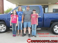 """Vince and Nichole Hutchinson from Jamesport, Missouri purchased this 2012 Chevrolet Silverado and wrote, """"Very helpful and friendly staff."""" To view similar vehicles and more, go to www.wowwoodys.com today!"""