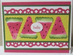 Image result for one in a melon stampin up cards