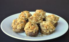 Stuffed Mushrooms With Cream Cheese And Sausage Appetizer