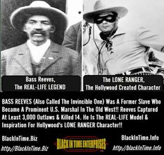 Never heard this before but I do know Bass Reeves.  When are they making his movie?!