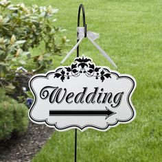 Wedding Direction Sign - Perfect for The Black And White Wedding.