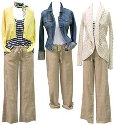3 ways to wear linen pants (like the kind I have)