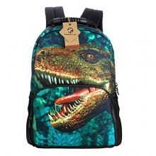 Koolertron Boys Girls 3D Animals Print Daypack of Dinosaurs Backpack School bagOne Size Multicoloured For School Camping Travel Fits Textbooks,Smartphones,Music Players,ipad and Samsung Tablet