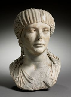 """This portrait bust depicts Octavia, first wife of the notoriously cruel emperor Nero. Historian Tacitus described Octavia as """"aristocratic and virtuous"""" and she was widely admired by the Roman Roman Artifacts, Ancient Artifacts, Ancient Rome, Ancient Greek, Cleveland Museum Of Art, Roman History, Roman Emperor, The Empress, Historian"""
