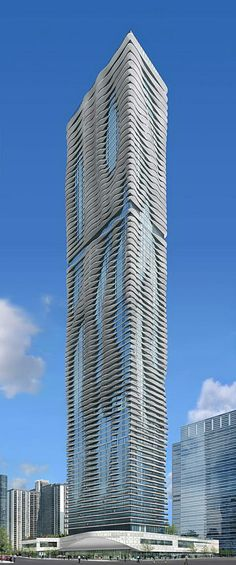Aqua Tower, Chicago, USA by Studio Gang Architects :: 87 floors, height 251m