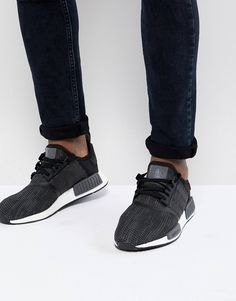sports shoes 8ed09 d223e adidas Originals NMD R1 Trainers In Black B79758