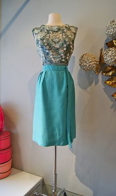 1960s Dress // Vintage 60s Beaded Cocktail Dress by xtabayvintage, $248.00
