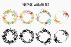 This vector set is ideal for vintage wedding invitation or other holidays, logo, scrapbooking, cards and so much more!! Also, a separate set of flowers, leaves and berries, you can create