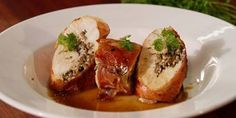 Chicken & Pancetta Roulade with Madeira Sauce