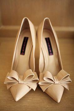 Wedding Shoes Beige Pumps Nude Pumps Nude Shoes Bow Shoes Dress Shoes
