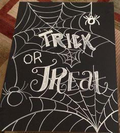 Halloween Chalkboard art by BeautifullyChalked on Etsy
