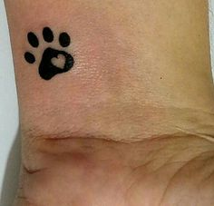 Searching for the perfect memorial tattoo for my WilliePete❤ Mini Tattoos, Cat Paw Tattoos, Little Tattoos, Trendy Tattoos, Animal Tattoos, Body Art Tattoos, Small Tattoos, Tattoos For Guys, Tatoos