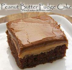 Pranut butter fudge cake