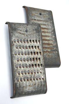 Primitive Vintage 1920s Metal Wonder Shredders by SecondHandNews, $29.95