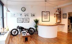 Inside our studio Tatto Shop, Tattoo Shop Decor, Tattoo Studio Interior, Tattoo Uk, Design Commercial, Barber Shop Decor, Interior Design Studio, Studio Design, Salon Design