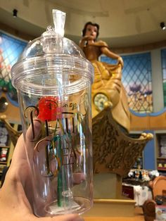 Beauty and the Beast Rose Tumbler New design with the beauty and the beast writing on the front. Please note due to the way Disney Stores these tumblers they are subject to small surface scratc Disney Drinks, Disney Cups, Disney Souvenirs, Disney Diy, Disney Food, Cute Disney, Disney Style, Cute Water Bottles, Enchanted Rose