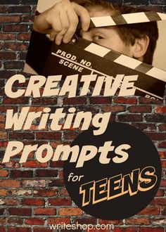 Write one-syllable-word stories, turn an experience into a movie synopsis, and write from new points of view with these creative writing prompts for teens